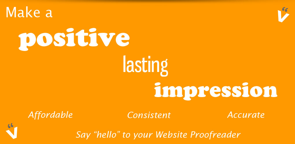 Accurate grammar, spelling and punctuation on your website
